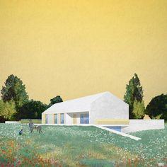 "358 Likes, 3 Comments - amano (@amano.grafica) on Instagram: ""Illustration for the Casa MC in Treviso (Italy), by Alberto Morao @a_morao [final sketch] Morao…"""