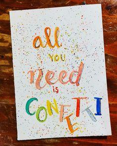 All you need is confetti. Day 7/28 #letterchallenge @dutchlettering @marijketekent . . . #dutchlettering #letterart #lettering #modernlettering #handletteren #letters #handlettering #handlettered #handgeschreven #handdrawn #handwritten #creativelettering #creativewriting #creatief #typography #typografie #moderncalligraphy #handmadefont #handgemaakt #sketch #doodle #draw #tekening #illustrator #illustration #typespire #dailytype #quote #confetti