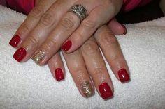 LCN #gelnails #bling #red #christmas #gold