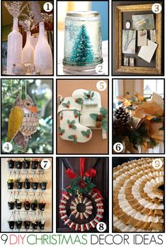 9 Great DIY Christmas Decor Ideas! Must try these out...