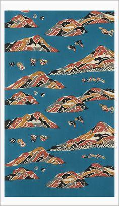 芹沢銈介 島々文着尺