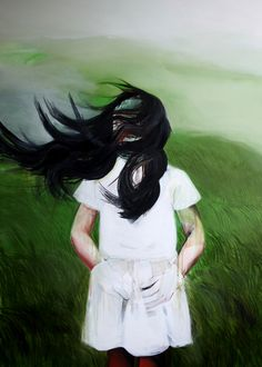 "Saatchi Online Artist: Hanna Ilczyszyn; Oil, Painting ""Green field"""
