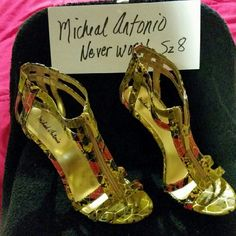 Michael Antonio Heels Michael Antonio Zipper Sandals 4 1/4 inch heels Michael Antonio Shoes Sandals