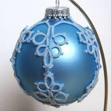 Risultati immagini per tatted christmas ball variegated thread