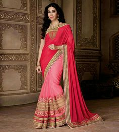 Red color heavy designer karishma saree  For purchase Whatsapp us on +917819025592 or call us on +919925415442