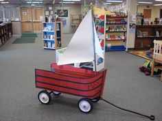 Where the wild things are- wagon idea for a boat! genius!!!