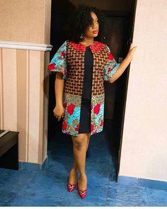 2019 Beautiful Ankara Jacket (Kimono) Styles from Diyanu - Ankara Dresses, Shirts & Short African Dresses, African Blouses, African Print Dresses, Short Gowns, African Fashion Ankara, Latest African Fashion Dresses, African Print Fashion, African Attire, African Wear