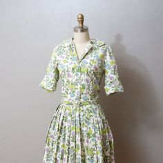 1950s Dress  Full Skirt Butterfly Print by OldFaithfulVintage, $60.00