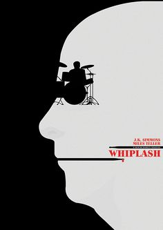 Whiplash (2014) ~ Minimal Movie Poster by Matt Needle ~ Oscar Bait 2015 Series #amusementphile