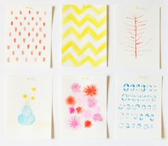 DIY watercolor doodles, these would make lovely stationary!