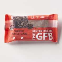 The Gluten Free Bar: Cranberry Toasted Almond Simple, non-GMO ingredients: California almonds, organic brown rice syrup, complete protein blend (brown rice protein, pea protein), dried cranberries (cranberries, sugar, sunflower oil), organic agave nectar, organic crisped brown rice, organic dates, golden flaxseed, almond extract, vanilla extract, sea salt. contains almonds.
