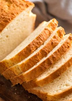 Close up of sandwich bread without yeast andwich-bread-without-yeast-quick-easy bread without yeast recipes Yeast Free Breads, No Yeast Bread, Yeast Bread Recipes, Bread Baking, Cornbread Recipes, Jiffy Cornbread, No Rise Bread, Baking Tips, Baking Soda