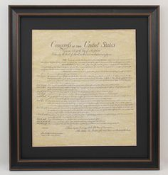 Framed Bill of Rights with Black Matte
