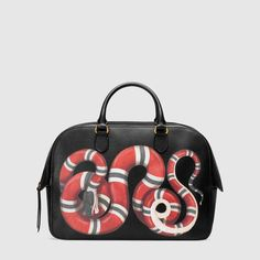 a82b408efa03e7 Gucci Snake print leather duffle Gucci Snake Bag, Gucci Bags, Duffle, Lady  Macbeth
