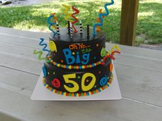 Oh No the Big 50! - A cake I made for my fathers 50th birthday.