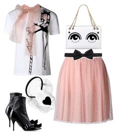 """Eyes"" by juliehalloran ❤ liked on Polyvore featuring RED Valentino and Lanvin"
