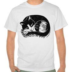 Sold! Thank you to the customers and enjoy! Sleeping Tuxedo Cat Men's Value T-Shirt; Abigail Davidson Art; ArtisanAbigail at Zazzle