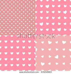Set Seamless pattern polka dot hearts. Vector isolated on trend pastel background.https://www.shutterstock.com/g/ORLOVA+YULIA?rid=3577073&utm_medium=email&utm_source=ctrbreferral-link