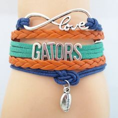 DO you love Florida Football? Cutest Infinity Love Florida Gators football bracelet on the planet! Don't miss our special sale event.