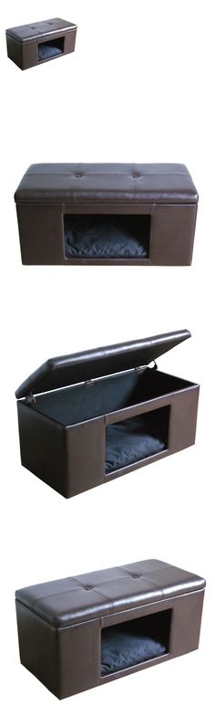 Animals Dog: Pet Bed Hidden Ottoman Bench Box Dog Cat Cushion House Kennel Furniture Pad New BUY IT NOW ONLY: $131.97