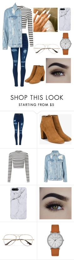 """""""Outfit for school"""" by kilam-nyaz on Polyvore featuring WithChic, Aquazzura, Miss Selfridge, Topshop, Ray-Ban and Ted Baker"""