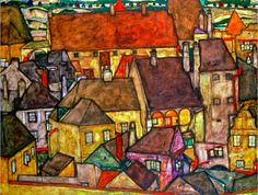 Schiele: Yellow city.