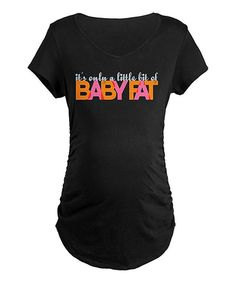 Announce an impending arrival to the world by sporting this quippy and quirky graphic tee. This soft cotton piece is cozy and lightweight, ensuring a perfect fit from the get-go, while side ruching flatters curves and grows with budding bellies.100% cottonMachine wash; tumble dryImported