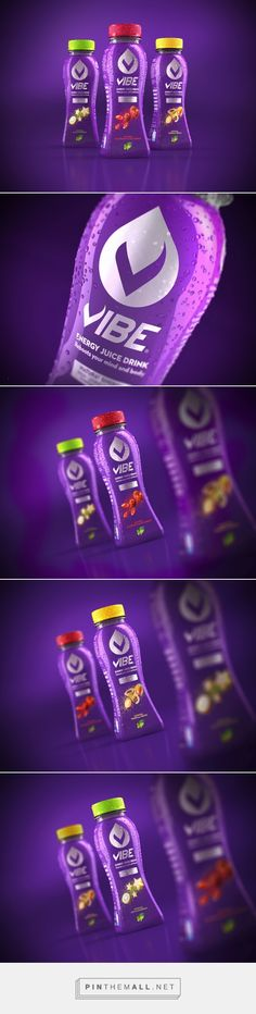 Vibe Energy Juice Drink - Packaging of the World - Creative Package Design Gallery - http://www.packagingoftheworld.com/2016/07/vibe-energy-juice-drink.html