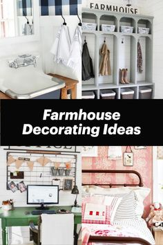 45 Farmhouse Decorating Ideas To Get The Farmhouse Look On A Budget - Easy DIY crafts and decor ideas for your home Diy Home Crafts, Easy Diy Crafts, House Lift, Decorating Ideas, Decor Ideas, Best Budget, Wardrobe Rack, Farmhouse Decor, Budgeting