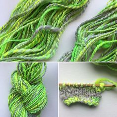 So fresh! Handspun hand dyed yarn. Www.Craftyhousewifeyarns.Com/handspunyarnshop