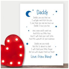 Vatertag Geschenk Personalised-Fathers-Day-Gifts-from-the-Bump-Bump-Gifts-for-Daddy-Dad-To-Be - Geschenkideen Baby Fathers Day Gift, Homemade Fathers Day Gifts, Personalized Fathers Day Gifts, Diy Father's Day Gifts, Father's Day Diy, Daddy Gifts, Gifts For Father, Gifts For New Dads, First Fathers Day