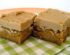 Caramel Brownies With Brown Sugar Icing - OMG.