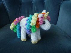 Rainbow unicorn #crochet pattern