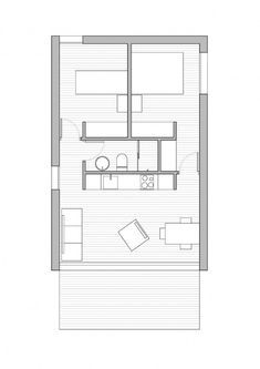 Denah Rumah 790592909574618242 - Source by Shed Design, Tiny House Design, The Plan, How To Plan, Small House Floor Plans, Shed Homes, Apartment Plans, Modular Homes, Modular Housing