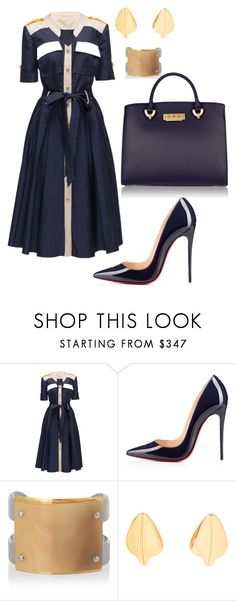 helia's style theory by heliaamado on Polyvore featuring Lattori, Christian Louboutin, ZAC Zac Posen, Marni and Loewe