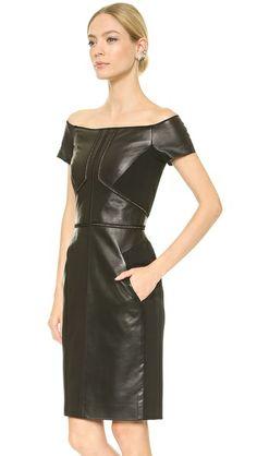 J. Mendel Платье с открытыми плечами