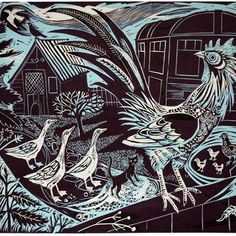 lino cut, Mark Hearld