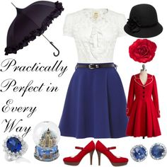 Mary Poppins, created by favourite-fictional-fashions on Polyvore