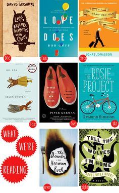 """Book club. - OH SO LOVELY. I'm reading """"The Rosie Project"""" right now, and it's wonderful"""