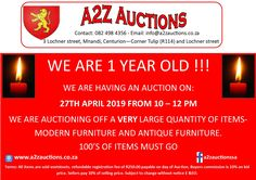 We are 1 year old and we are going big! of items on Auction