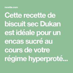 Cette recette de biscuit sec Dukan est idéale pour un encas sucré au cours de votre régime hyperprotéiné. Goûtez ces biscuits croquants à l'amande accompagnés d'un verre de lait écrémé par exemple. La préparation contient des ingrédients tolérés, comme les sons.
