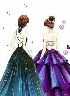 Pin by elosa on bff drawings in 2019 Best Friend Drawings, Girly Drawings, Cool Art Drawings, Cute Girl Drawing, Cartoon Girl Drawing, Girl Cartoon, Bff Images, Bff Pictures, Sisters Drawing