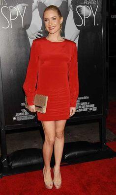 Kristin Cavallari shows off tiny baby bump short red dress