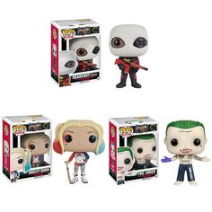 Funko Pop Suicide Squad Joker Harley Quinn Deadshot #96 #97 #106  Collectible Vinyl Figure Model toys //Price: $26.38 & FREE Shipping //     #dccomics  #cosplay  #catwoman #comiccon #comics #love #quinn #justiceleague #makeup Mad Love, Deadshot, Margot Robbie Harley Quinn, Joker And Harley Quinn, Jared Leto, Funko Pop, Dc Comics, Captain Boomerang, Killer Croc