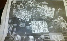 Rabid Seattle Seahawks fans seem to have a limited understanding of grammar and punctuation.   What is going on in the schools up there? (Note, that is THERE not THEIR or THEY'RE.)