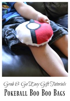 How to sew cute Boo Boo Bags in the shape of Pokeballs! Free pattern!