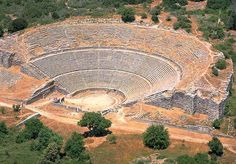 TRAVEL'IN GREECE   The Ancient Theater of Dodoni, #Epirus, #Greece. No sound system necessary here.