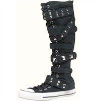 converse knee high boots. converse all star xx hi 7 strap boots/ tall/ knee high boots