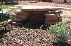 Although tortoises love to sunbathe, it's important they also have access to shade! A DIY Stone Shade Shelter is an easy way to provide shade! PetDIYs.com