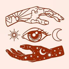 hand and eye simple illustration Kunst Tattoos, Body Art Tattoos, Sleeve Tattoos, Tatoos, Tattoo Sleeves, Tattoo Art, Hand Tattoos, Inspiration Art, Art Inspo